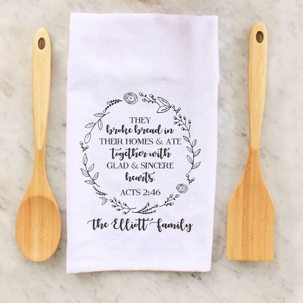 "Tea Towel - ""They Broke Bread"""