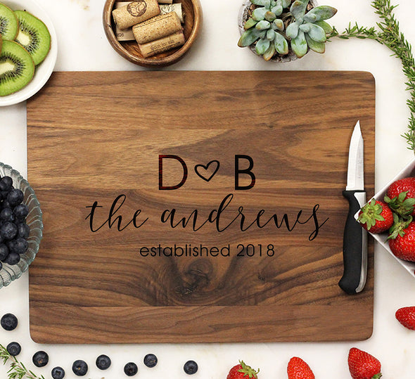 Personalized Walnut Cutting Board, Custom Engraved Cutting Board, Custom Cutting Board
