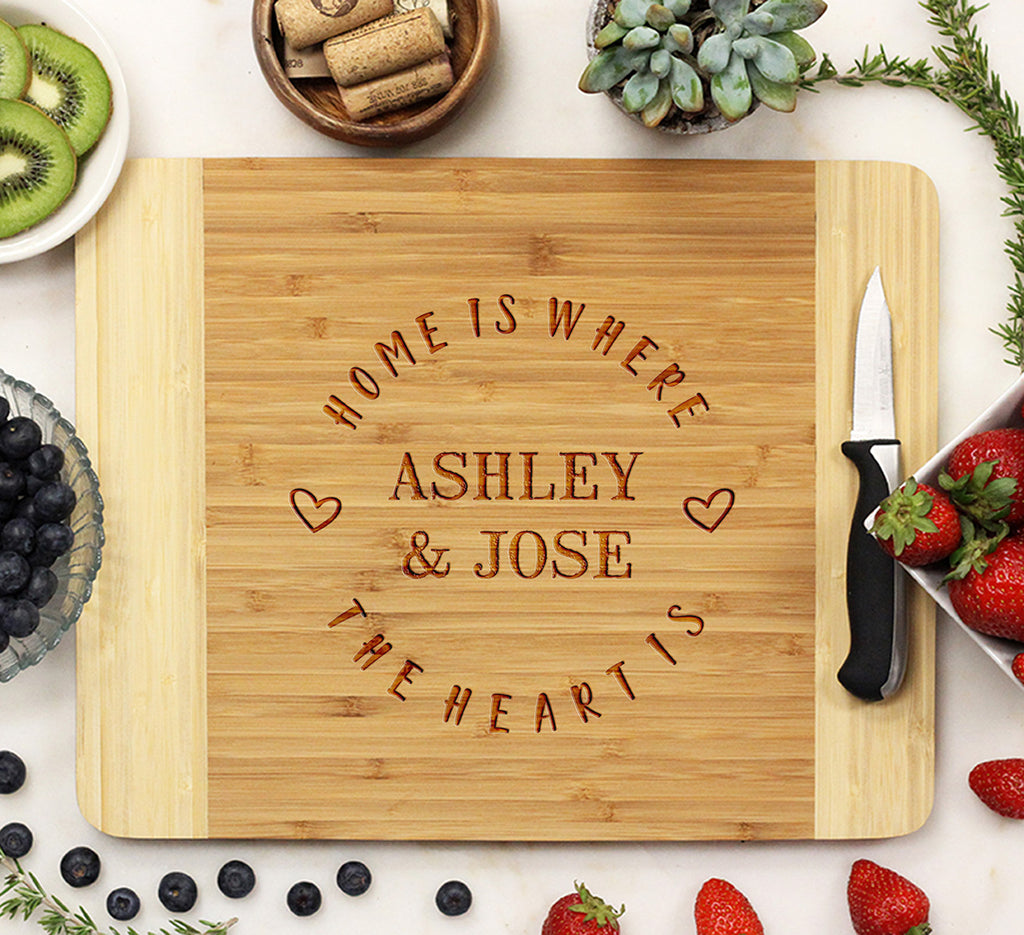 "Cutting Board ""Home Is Where The Heart Is"""