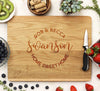 Personalized White Oak Wedding Cutting Board, Custom Cutting Board