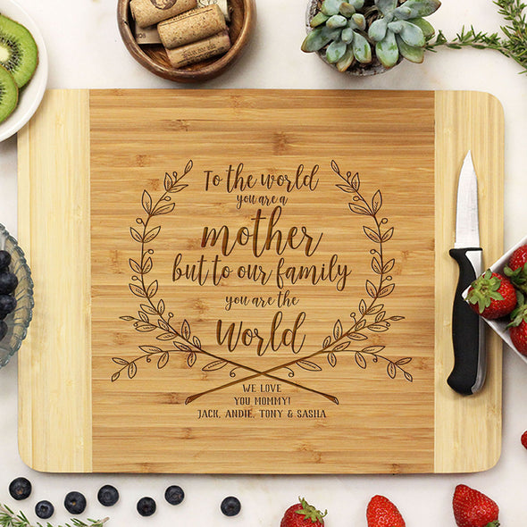 Personalized Wooden Cutting Board For Mother's Day