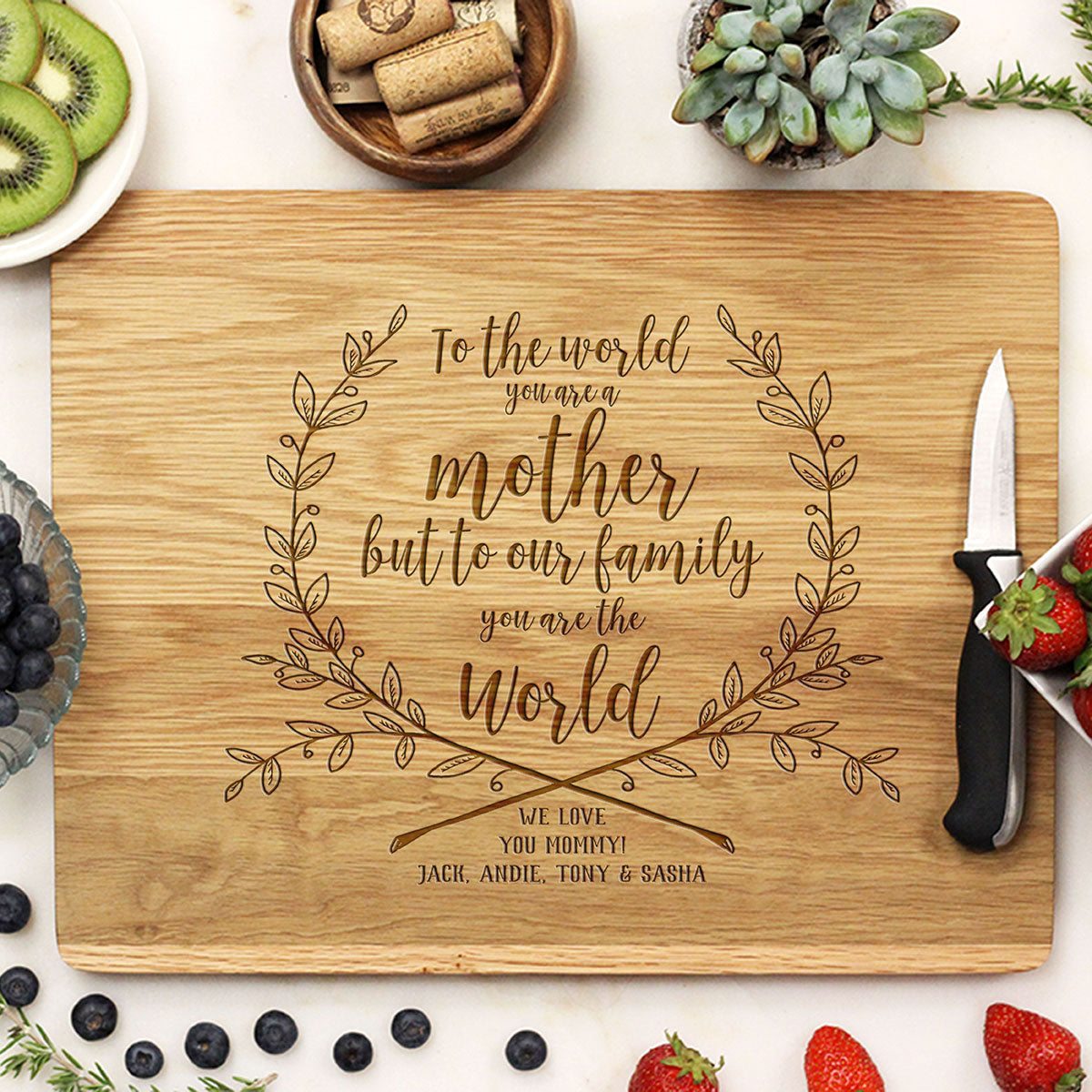 Personalized Wooden Cutting Board For Mother\'s Day – Stamp Out