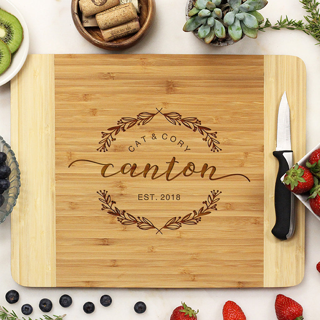 Custom Cutting Board With First And Last Names