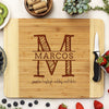 "Personalized Bamboo Cutting Board, Custom Family Name Engraved Cutting Board, Custom Cutting Board ""David & Martha"""