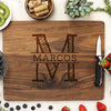 Personalized Walnut Cutting Board, Custom Engraved Cutting Board, Custom Family Name Cutting Board