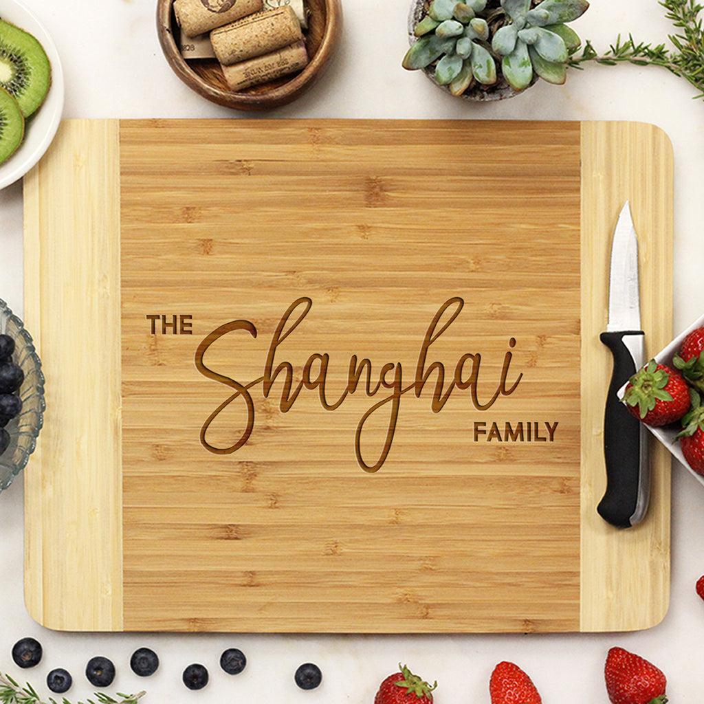 Big Family Last Name Personalized Cutting Board