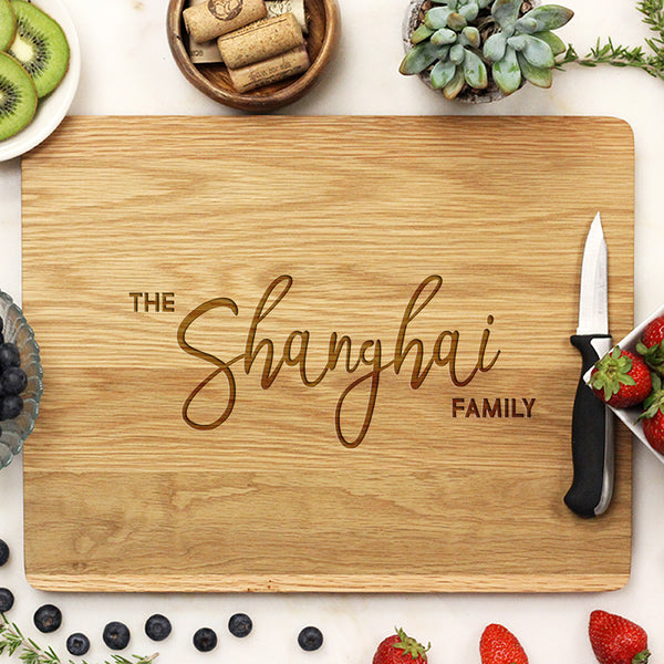 Custom White Oak Cutting Board, Personalized Cutting Board, Custom Cutting Board