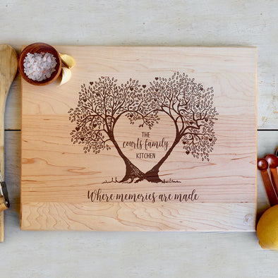 "Custom Maple Cutting Board ""Where memories are made"""