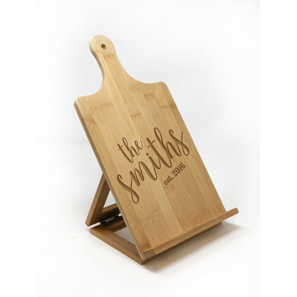 Chefs Easel, Cookbook Holder, Tablet Holder, iPad Holder, Wood Tablet Stand, Recipe Stand, Custom iPad Holder, Mothers Day
