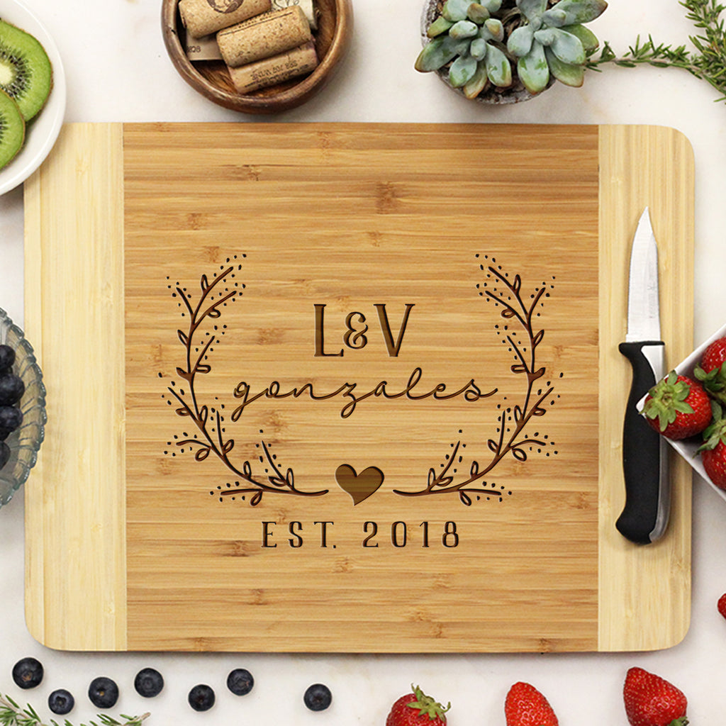 Personalized Wedding Bamboo Cutting Board, Custom Wedding Cutting Board, Custom Cutting Board