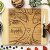 "Custom Wedding Cutting Board, Personalized Wedding Cutting Board, Custom Cutting Board ""Emily + Byron Reynolds Treea"""