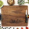 walnut cutting board, engraved cutting board, personalized cutting board