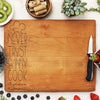 cherry cutting board, engraved cutting board, personalized cutting board