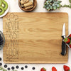 "Funny Cook Cutting Board, Custom Engraved Cutting Board, Personalized Cutting Board Never Trust a Skinny Cook ""Sylvia's Kitchen"""