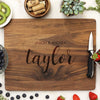 walnut cutting board, custom engraved cutting board, personalized cutting board