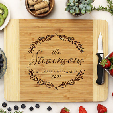 bamboo cutting board, custom engraved cutting board, personalized cutting board