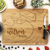 white oak cutting board, engraved cutting board, personalized cutting board