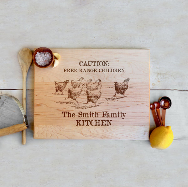 "Maple Farmhouse Cutting Board ""The Smith Family Kitchen"""