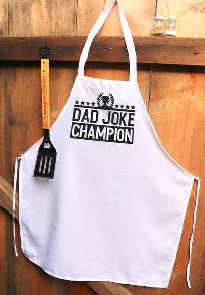 "Chef Apron, Custom Apron, Personalized Apron ""Dad Joke Champion"""