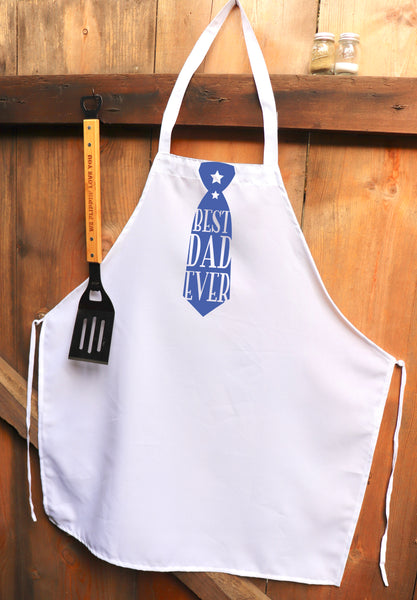 "Chef Apron, Custom Apron, Personalized Apron ""Best Dad Ever"""