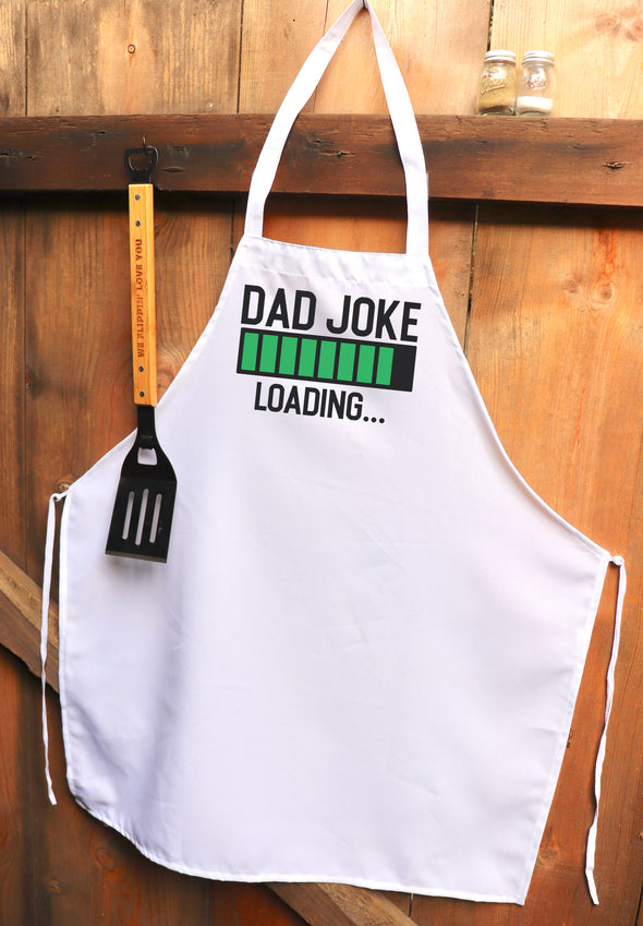 "Chef Apron, Custom Apron, Personalized Apron ""Dad Joke Loading"""