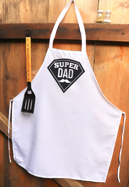 "Chef Apron, Custom Apron, Personalized Apron ""Super Dad"""