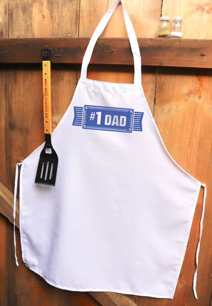 "Chef Apron, Custom Apron, Personalized Apron ""#1 Dad"""