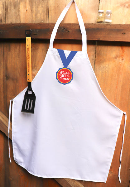 "Chef Apron, Custom Apron, Personalized Apron ""World's Greatest Grandpa"""