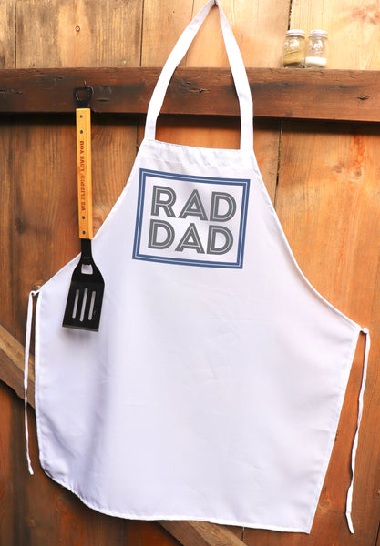 "Chef Apron, Custom Apron, Personalized Apron ""Rad Dad"""