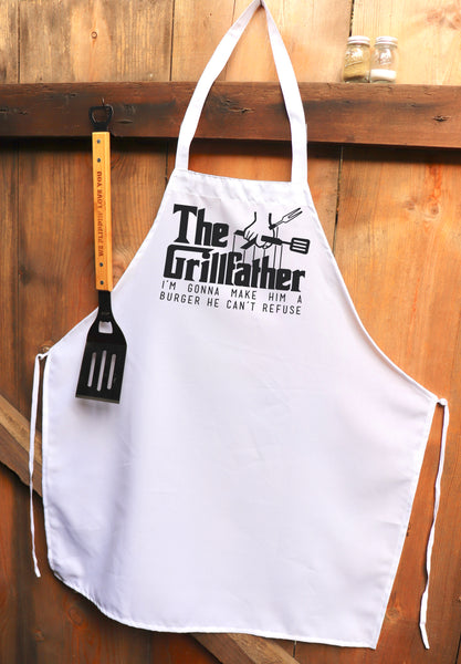 "Chef Apron, Custom Apron, Personalized Apron ""The Grillfather"""