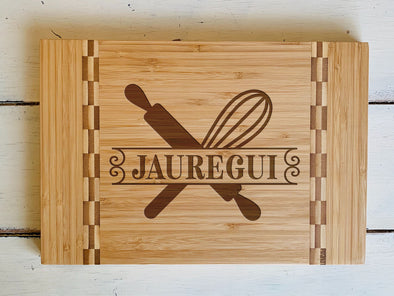 "Custom Farm House Cutting Board ""Jauregui"""