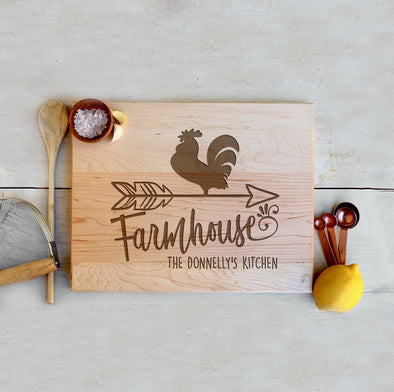 "Custom Farmhouse Cutting Board ""The Donnelly's Kitchen"""