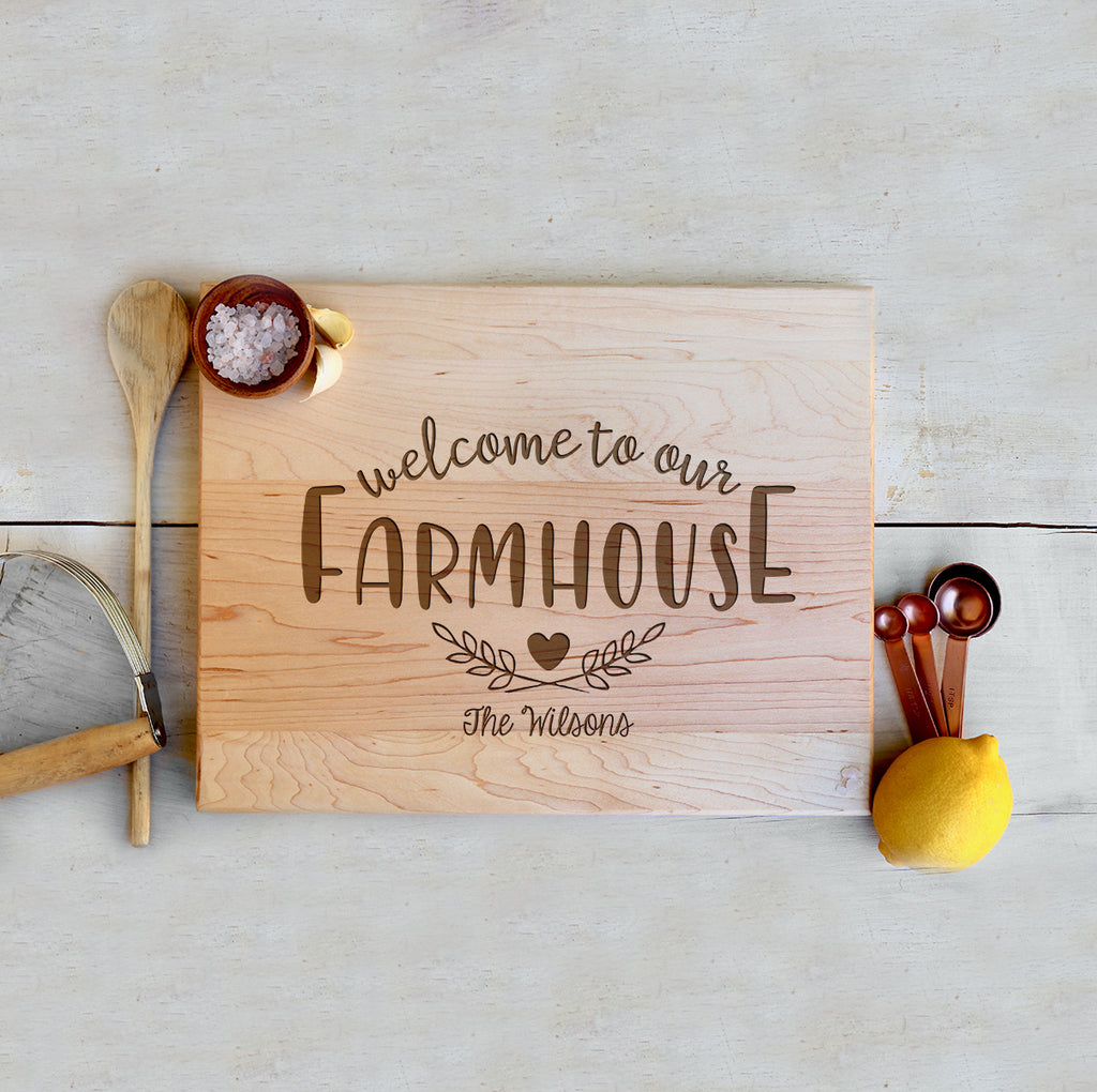 "Custom Farmhouse Cutting Board ""The Wilsons"""
