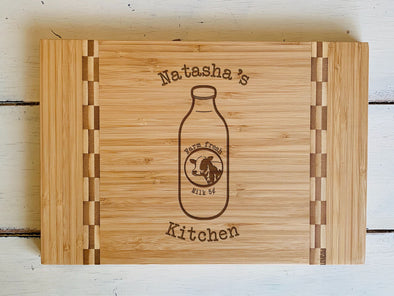 "Custom Farmhouse Cutting Board ""Natasha's Kitchen"""