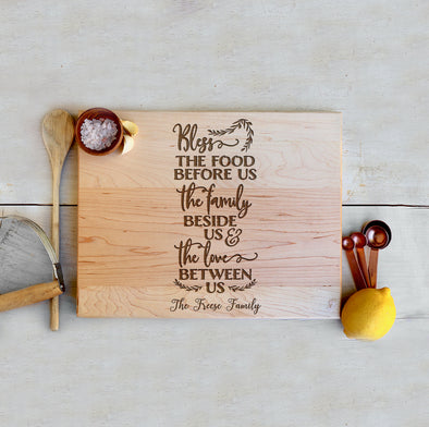"Custom Farmhouse Cutting Board ""The Freese Family"""