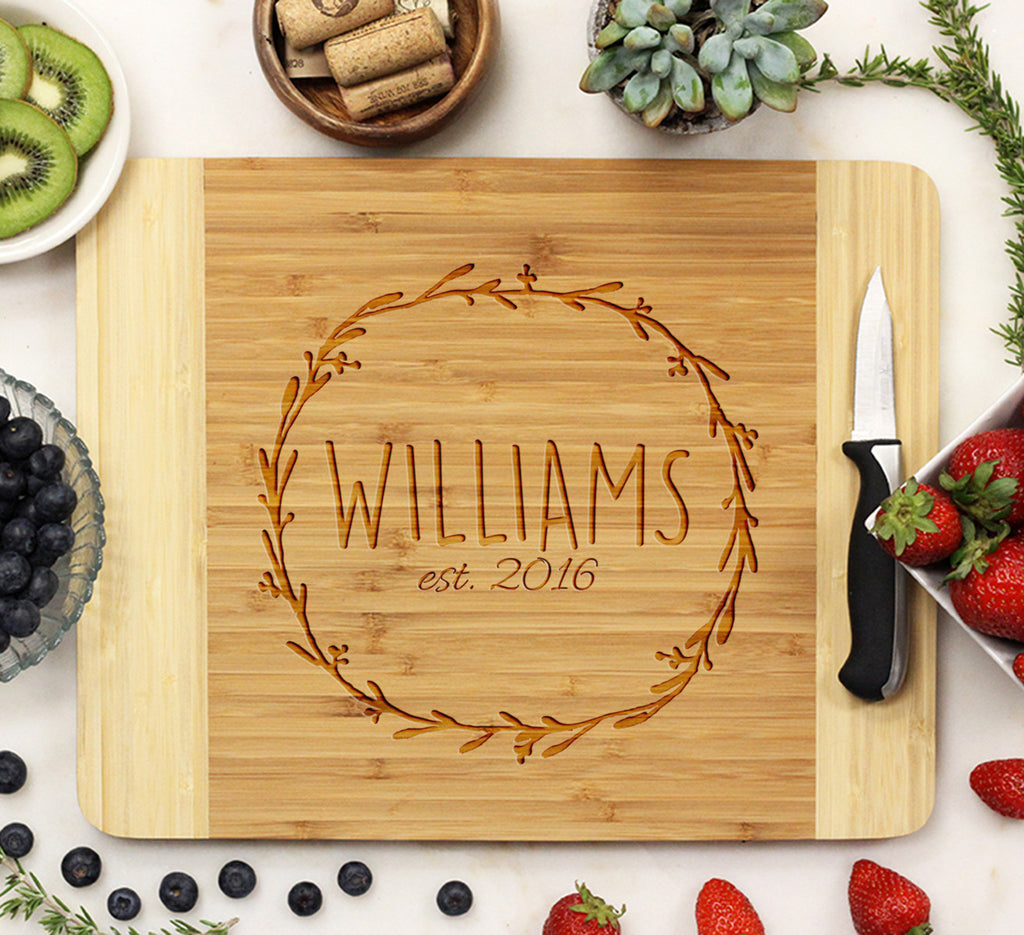 "Cutting Board ""Williams Wreath"""