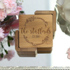 "Engraved Bamboo Coaster Set ""The Staffords"""