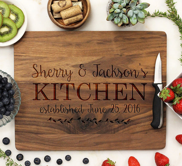 "Cutting Board ""Sherry & Jacksons Kitchen"""