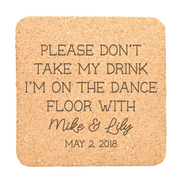 "Personalized 25pc Cork Coasters - ""I'm On The Dance Floor"""