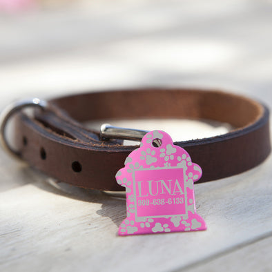 "Fire Hydrant Dog Tag - ""Paw Print"""