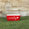"Dog Bowl - ""Marley Heart"""