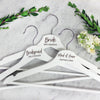 Personalized Wedding Hangers - Bride, Maid Of Honor, Bridesmaid
