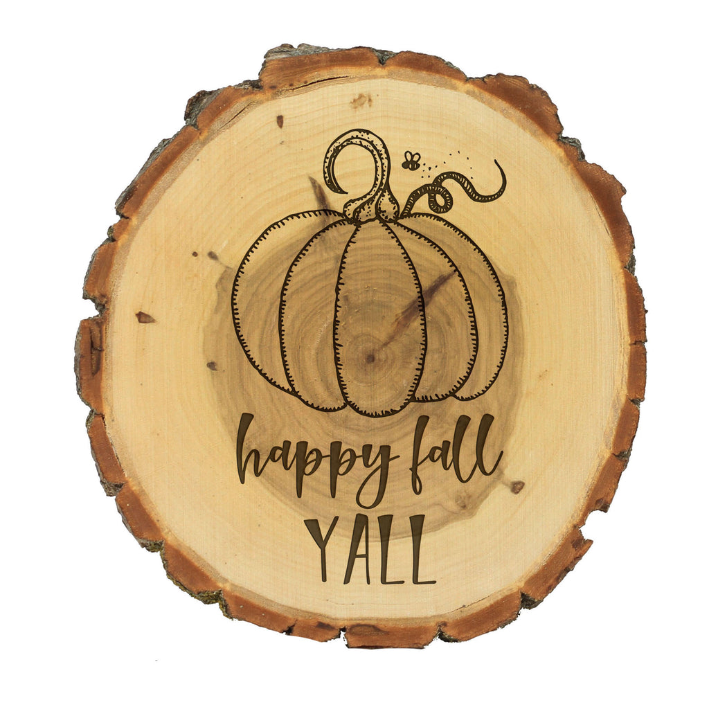 "Wood Plaque ""Happy Fall Yall"""