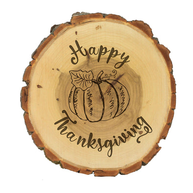 "Wood Plaque ""Happy Thanksgiving"""
