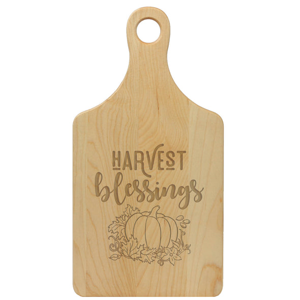 "Paddle Cutting Board, ""Harvest Blessings"""