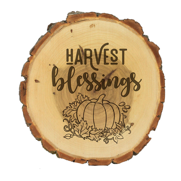 "Wood Plaque ""Harvest Blessings"""