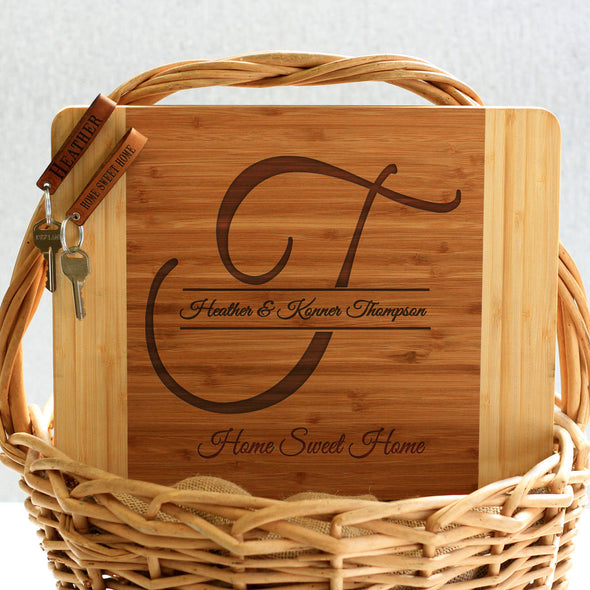 """Thompson Initial"" Cutting Board & Key Chains"
