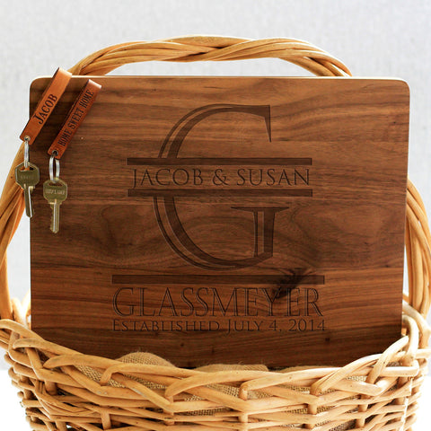 """Glassmeyer"" Cutting Board & Key Chains"
