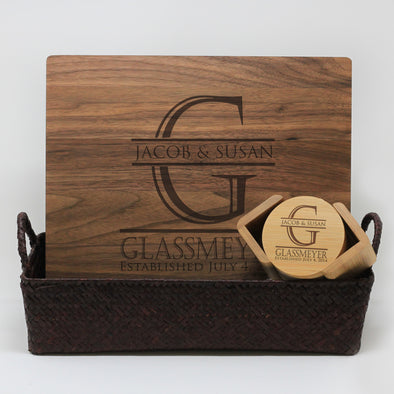 Closing Gift Package With Huge Initial, First & Last Names