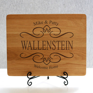 """Wallenstein Filigree Design"" Cutting Board & Stand"